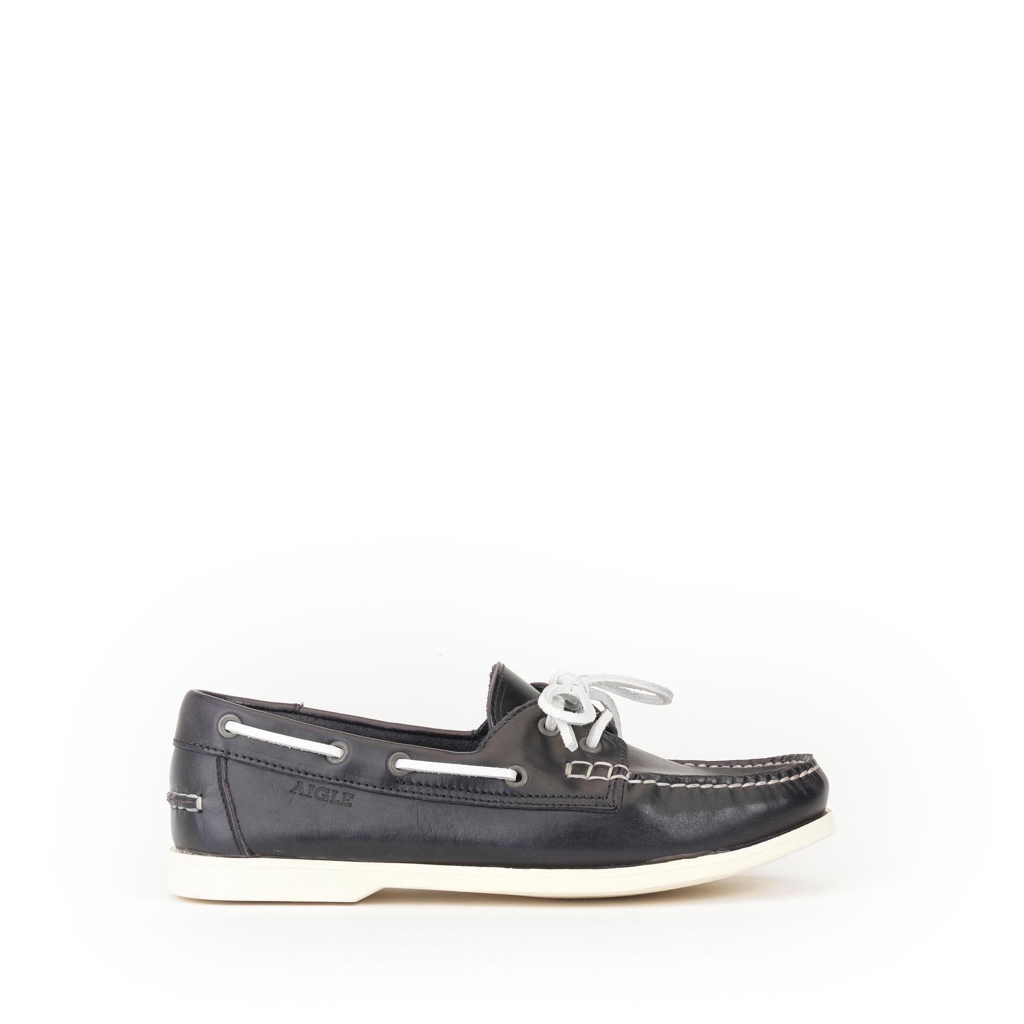 Chaussures bateau cuir homme ...