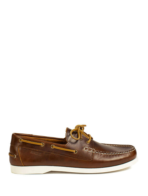 Men's leather boat shoes