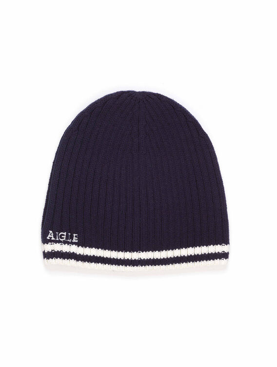 Men's cotton and acrylic beanie