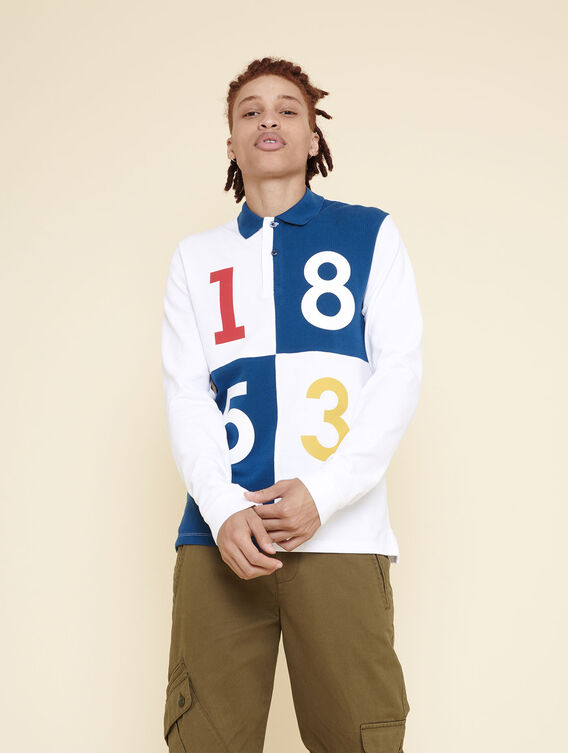 1853 long-sleeved polo shirt