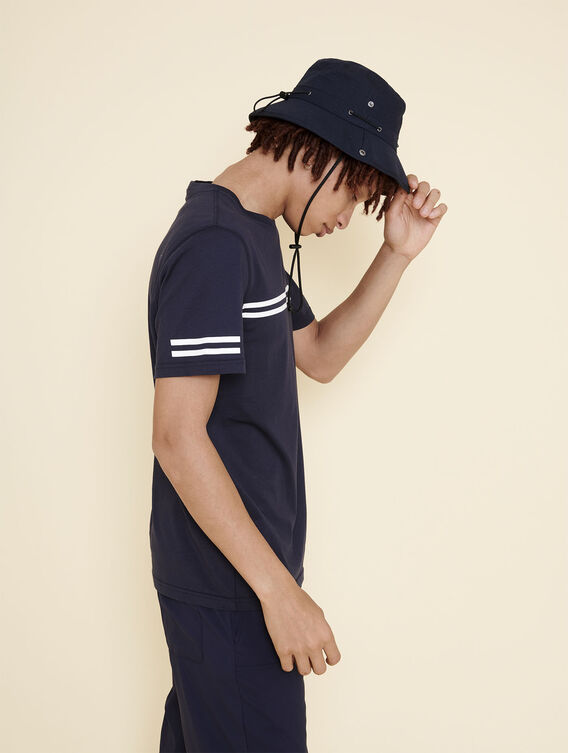 Baumwoll-T-Shirt mit zwei Streifen