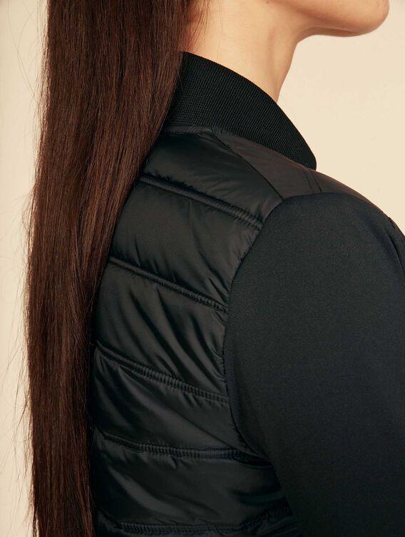 Hybrid fleece quilted jacket