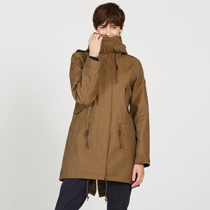 Parka fishtail longue modulable