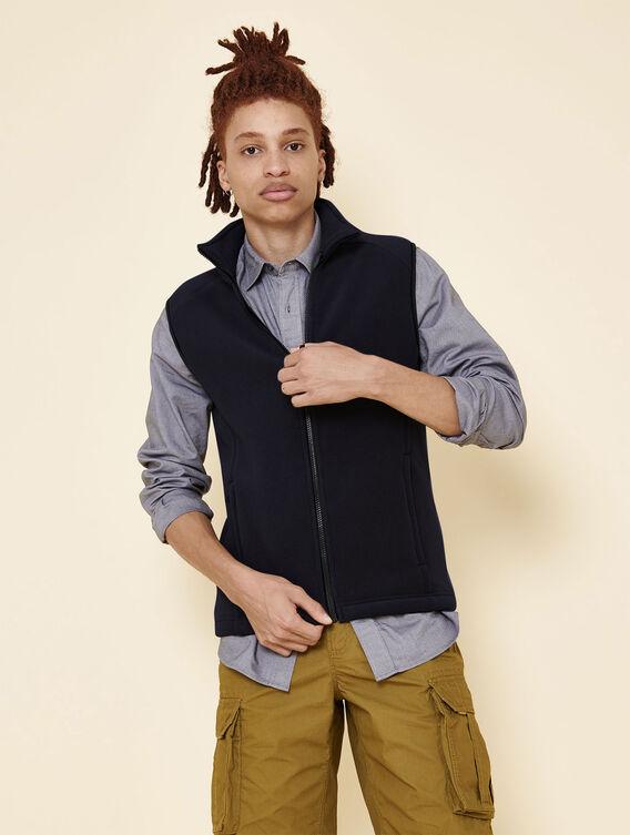 Sleeveless fleece jacket
