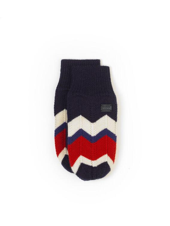 Women's wool jacquard gloves