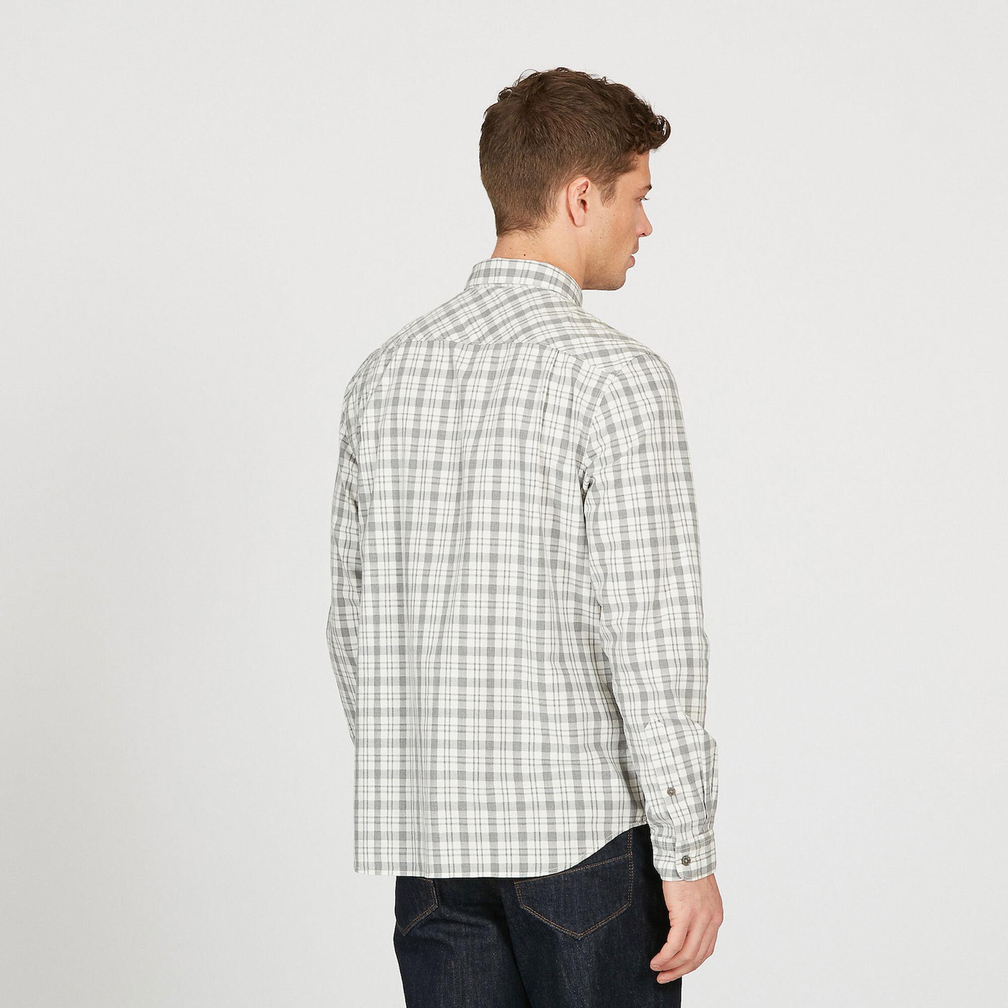 Chemise à carreaux texturée