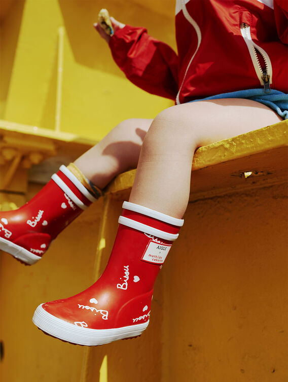 Rain boots for toddlers x Mathilde Cabanas