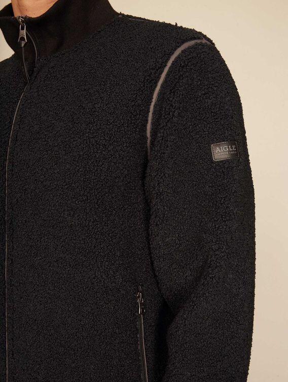 Plüschige Jacke aus Sherpa-Fleece
