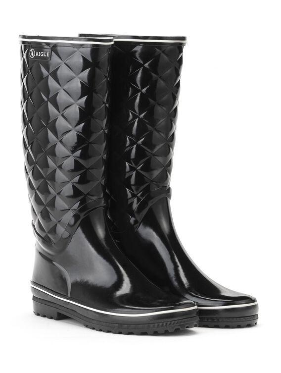 Women's glossy rain boots