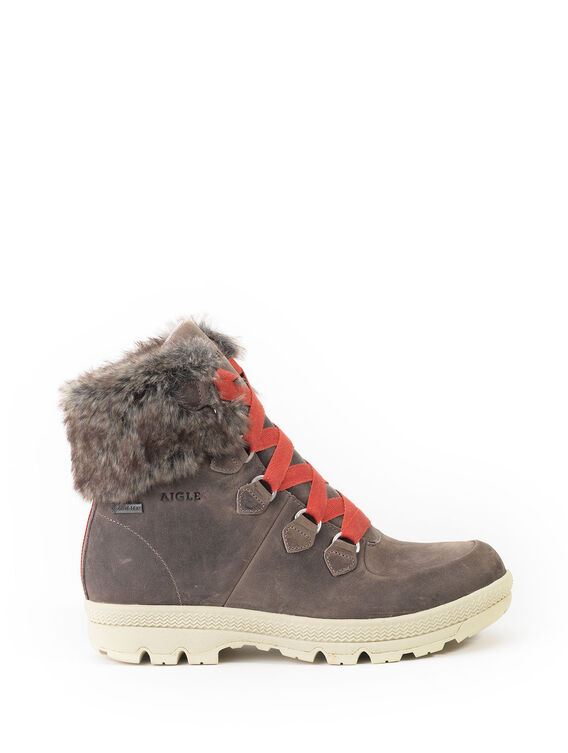 Women's warm fur-lined shoes