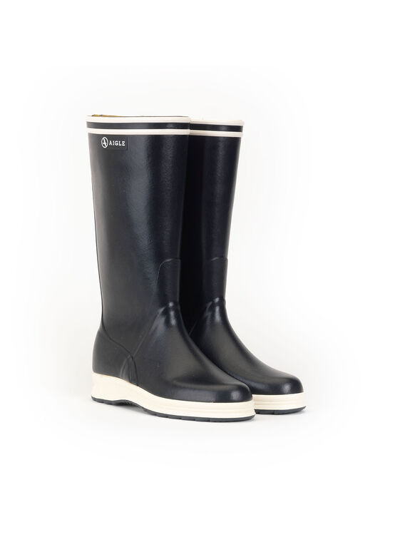 Unisex's nautical rubber boots