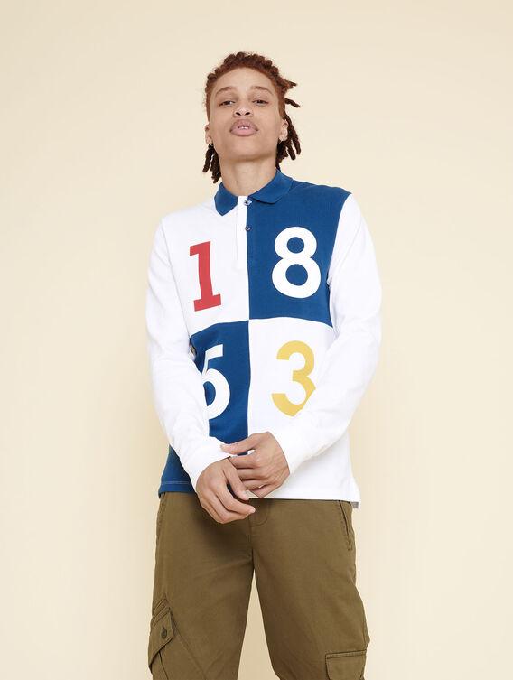 1853 long-sleeved polo shirt