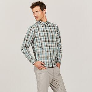 Chemise coton à carreaux