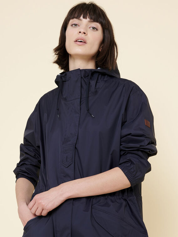 Packable rain parka