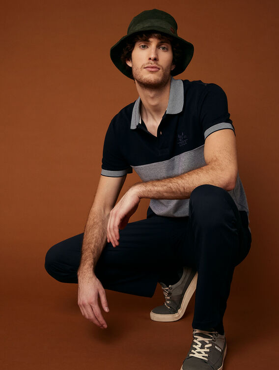 Straight-cut polo shirt