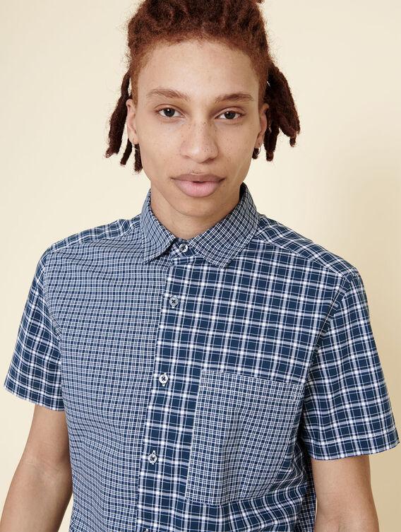 Patchwork short-sleeved shirt