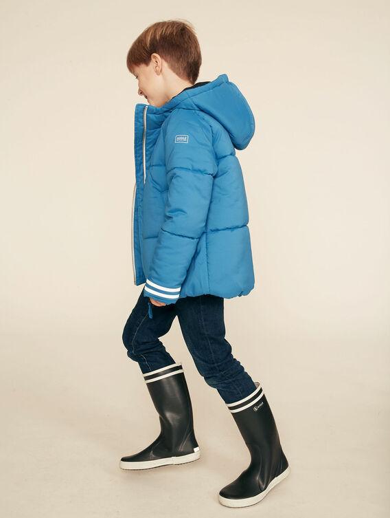Warm waterproof quilted jacket