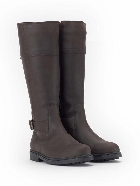 Women's fleece-lined leather boots