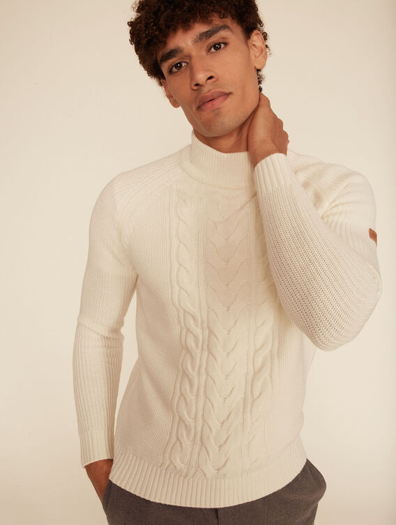 Warm cable knit jumper