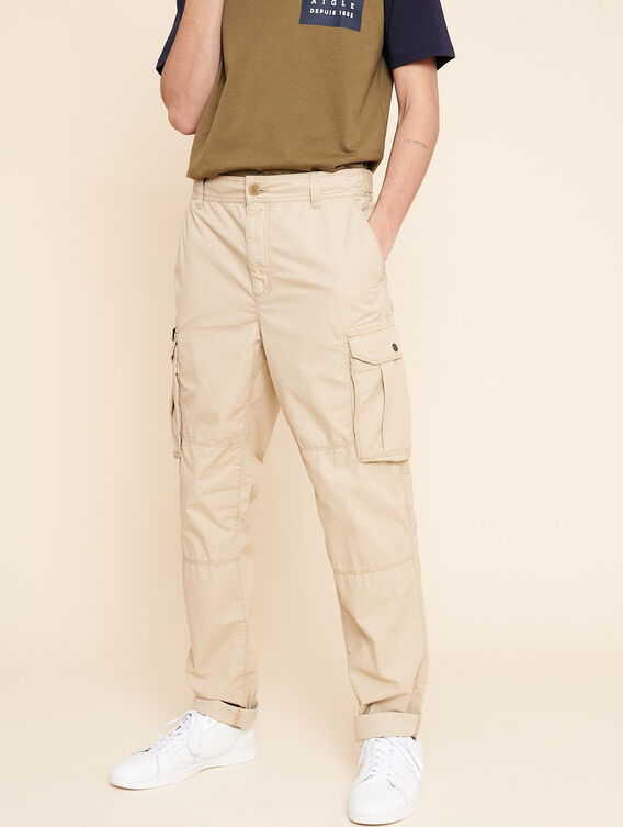 Multi-pocket cargo trousers