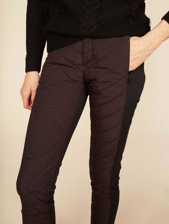 High-tech mixed fabric leggings