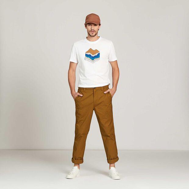 Short-sleeved T-shirt with heat regulation