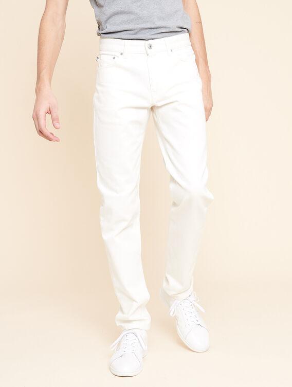 Weiße Jeans mit geradem Bein