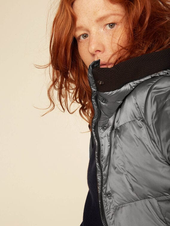 Warm water-repellent quilted jacket