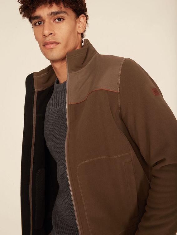 Windstopper®-Fleece-Jacke im Jagd-Stil