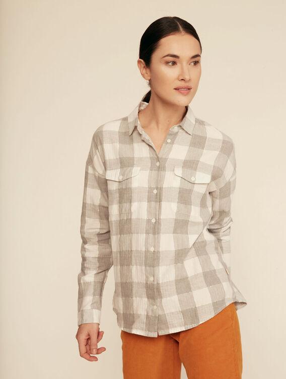 Chemise à carreaux lurex