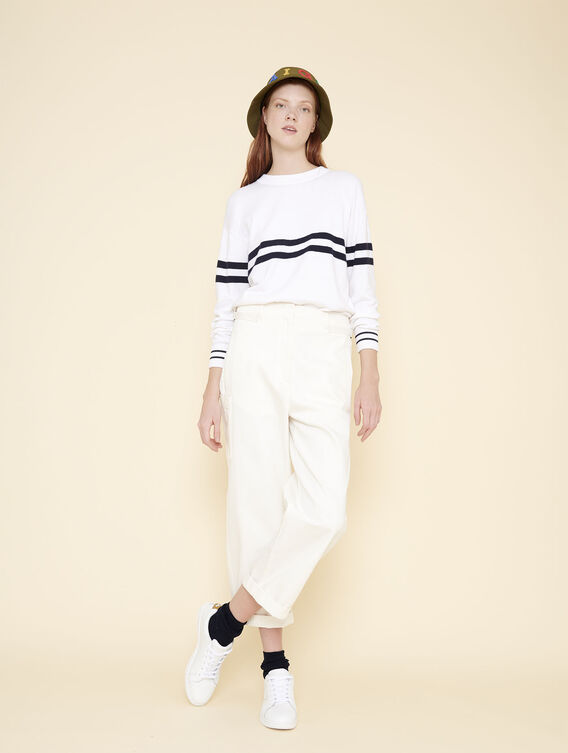 Carrot fit cropped trousers