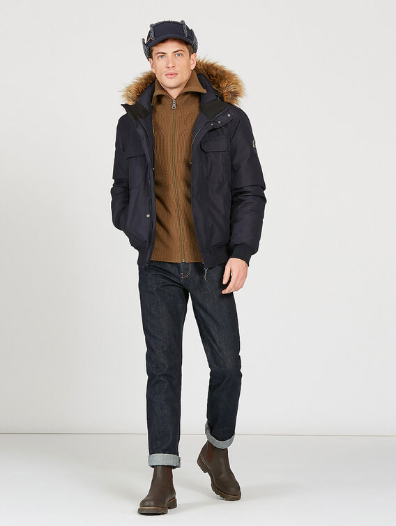 Waterproof and breathable down jacket