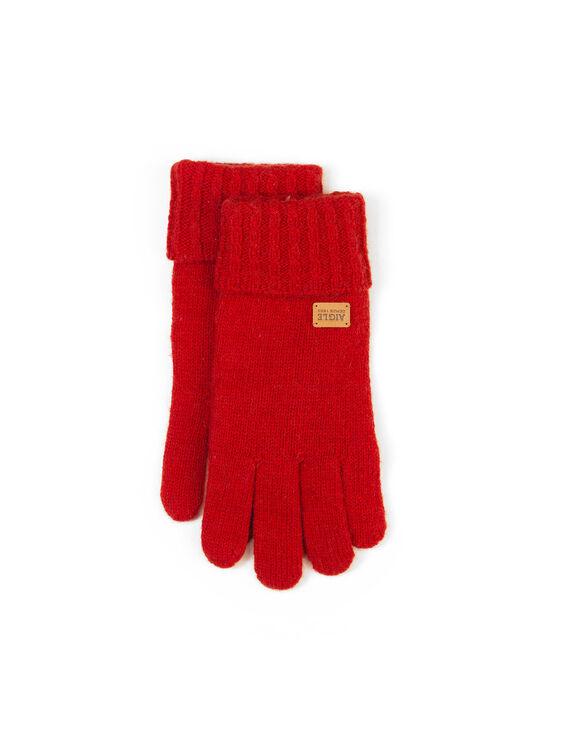 Women's warm wool gloves