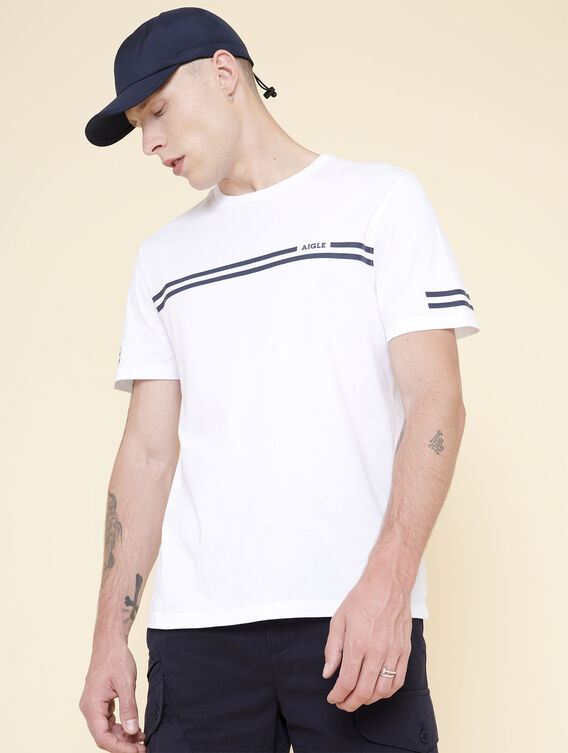 Double-stripe cotton T-shirt