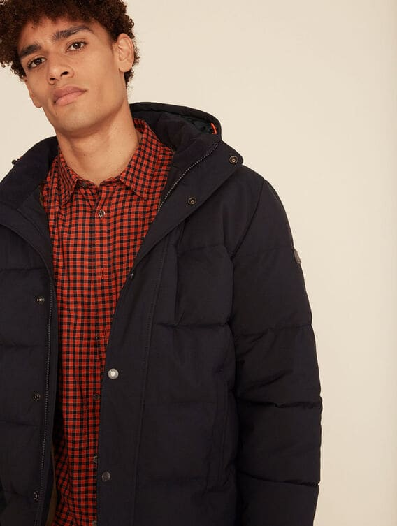 Water-repellent quilted jacket