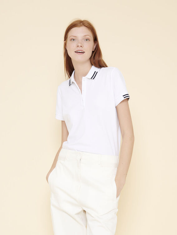 Women's plain cotton polo shirt