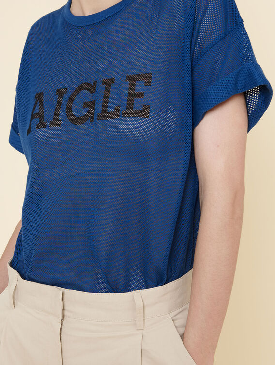 T-shirt en mesh oversize