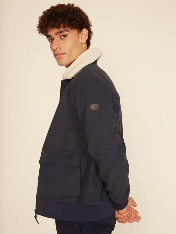 Sheepskin fleece jacket