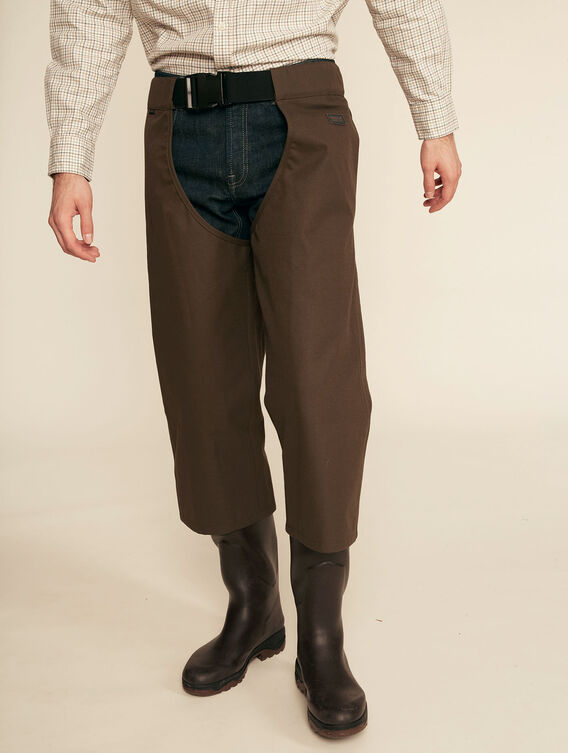 Waterproof and breathable overtrousers