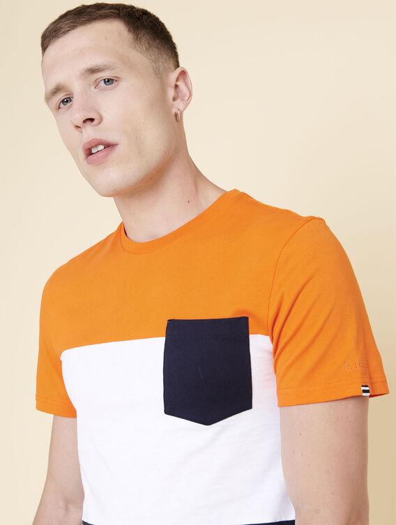 T-shirt colorblock technique