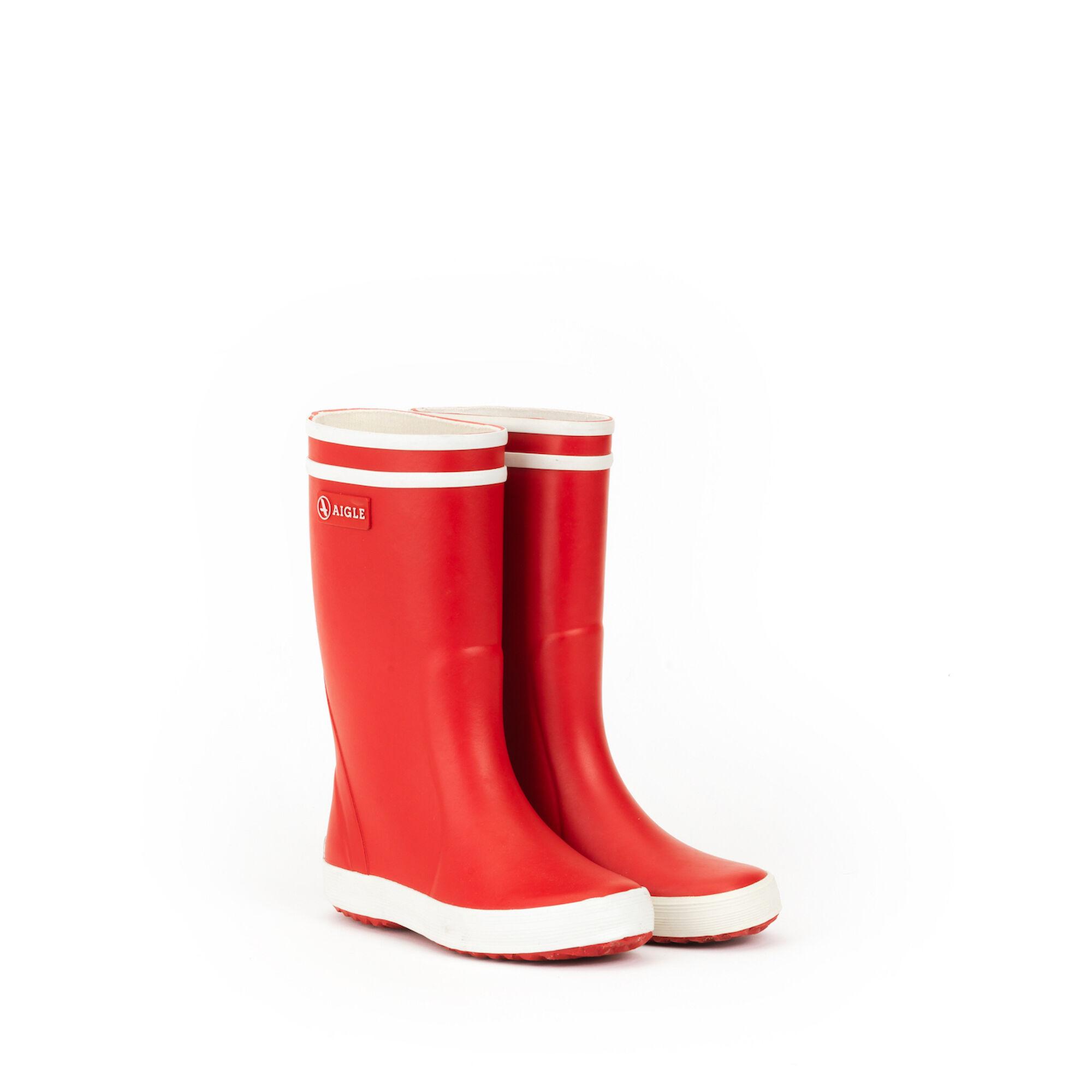 Botte de pluie enfant rouge/blanc
