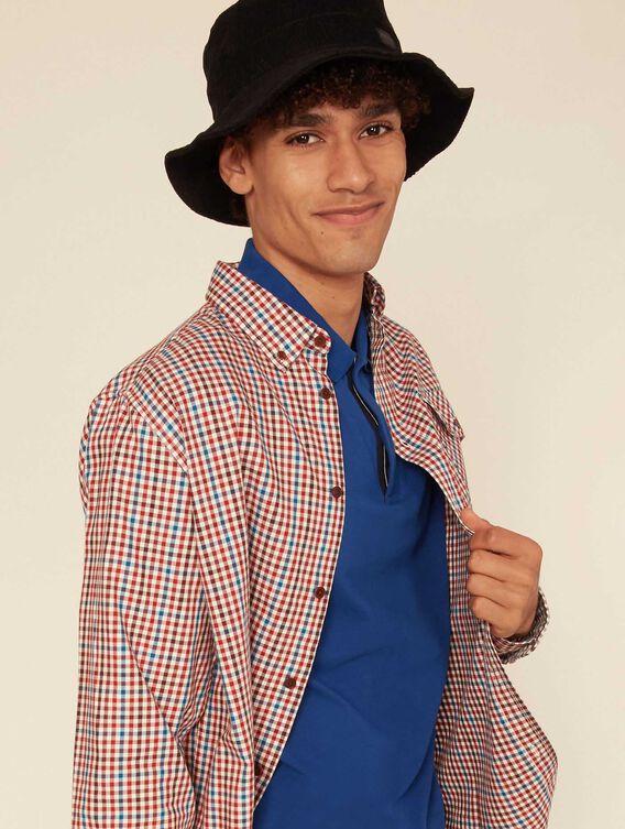 Straight-cut check shirt