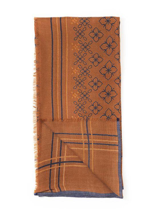 Écharpe en laine carrée Femme