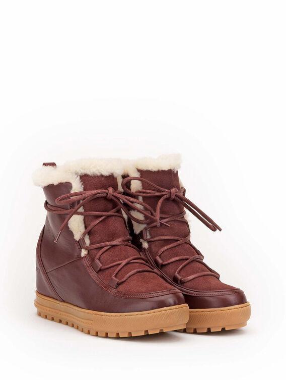 Boots compensées fourrées Femme