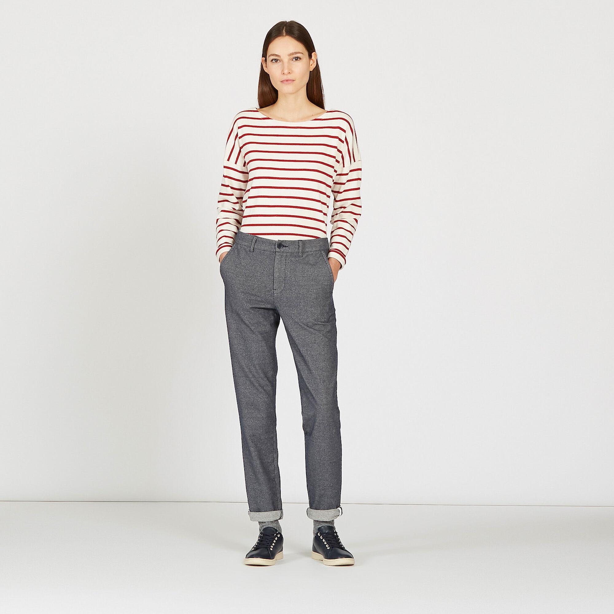 Pantalon effet molleton