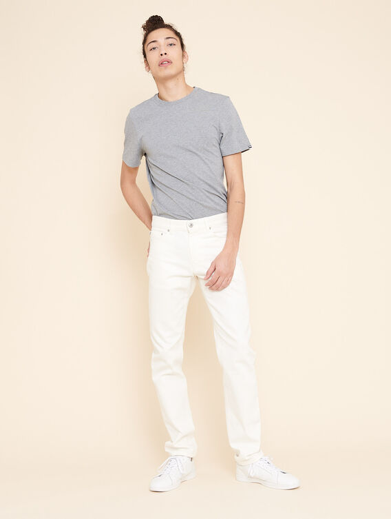 White straight cut jeans
