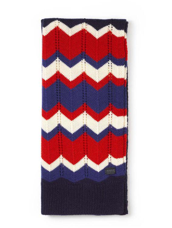 Women's wool jacquard scarf