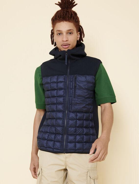 Warm sleeveless jacket