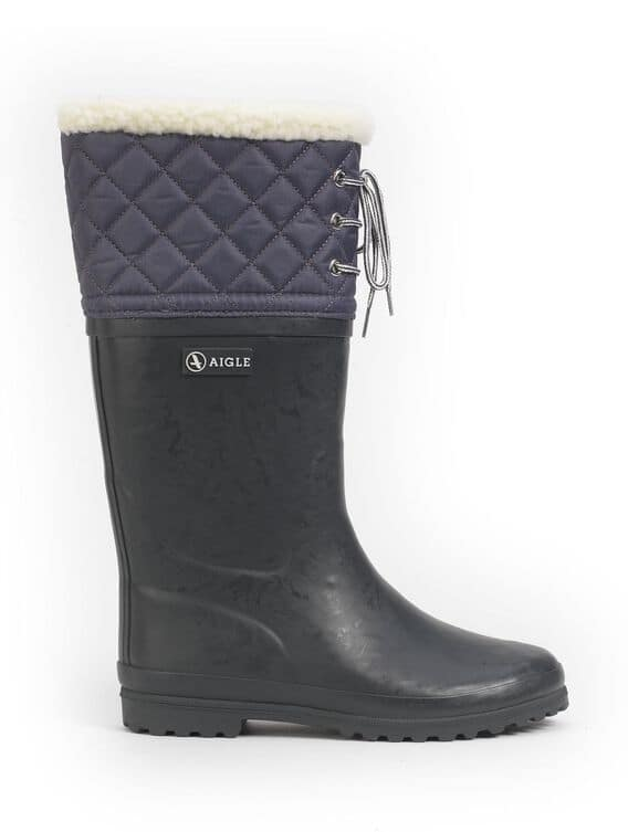 Women's fur-lined rubber boots