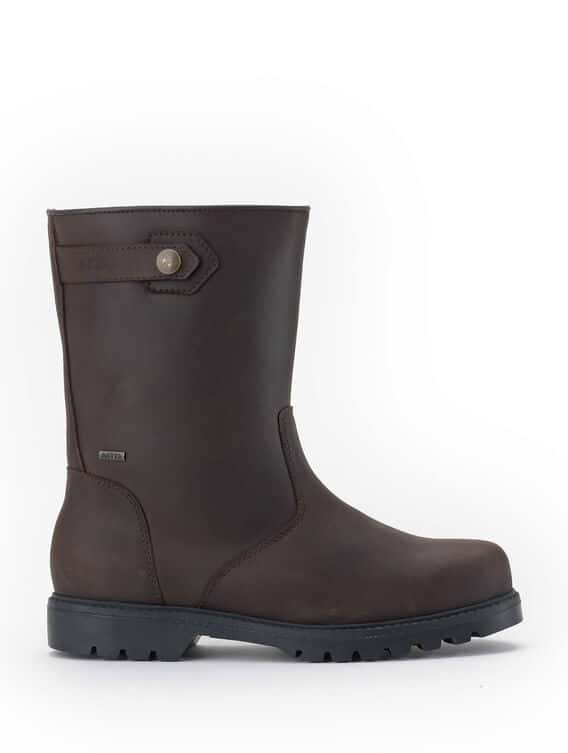 Men's pull-on leather boots